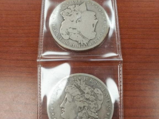 1892 and 1901 Morgan $1 Coins