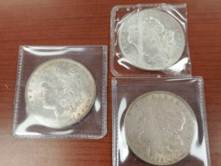 1878, 1884 and 1921 Morgan $1