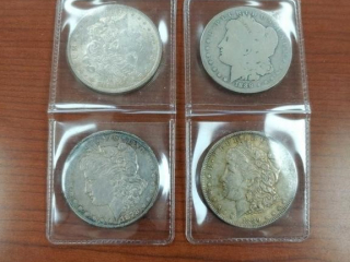 1878, 1884 and (2) 1889 Morgan