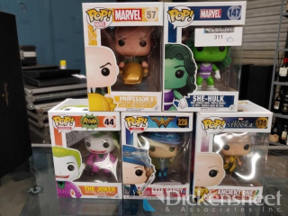 (5) Assorted P.O.P! Toys including She Hulk,