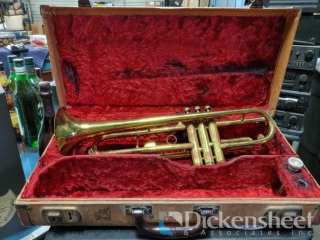Trumpet with case as photographed
