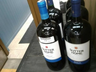 (5) Bottles of Sutter Home Merlot.