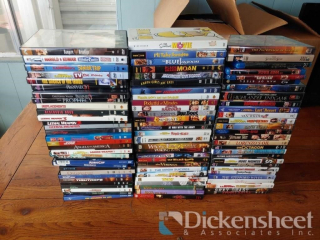 Box of assorted DVD's and Blu-Rays