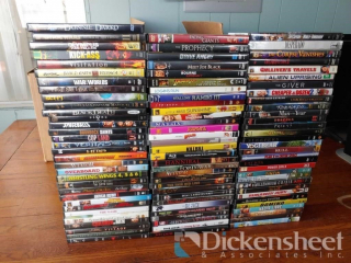 Box of assorted DVD's as photographed