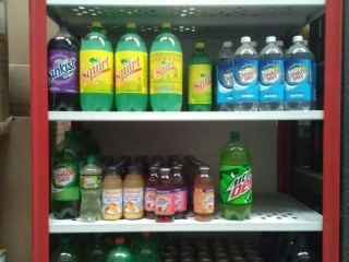 Assortment of beverages: