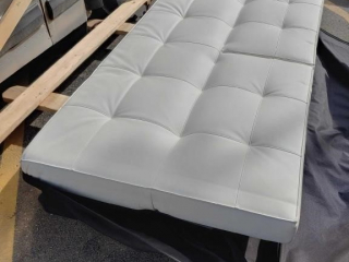 Approximately 8' x 4' white leatherette