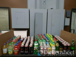 Assortment of soft drinks as follows: