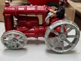 Red cast tractor