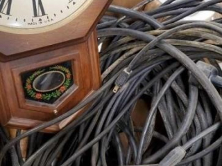 Extension cords , clock