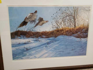 Limited edition pheasant print 129/980