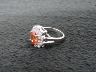 Antique Style 3.24ct Golden Citrine Ring-