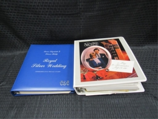 Queen Elizabeth and Lady Diana Wedding Stamp Album