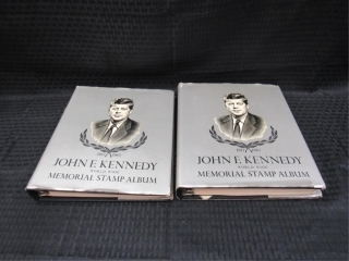 (qty - 2) John F. Kennedy Memorial Stamp Albums-