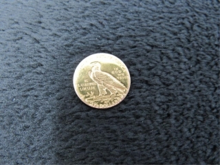 1910 Indian Head $2.50 Gold Quarter-