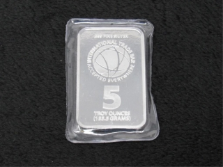 5 Troy Oz Silver Bar