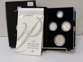 1998 W Platinum Proof 4 Coin Proof Set-