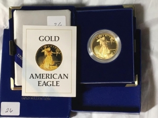 1986 W 1 Oz $50 Saint Gaudens Gold Proof Coin-