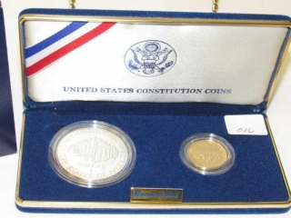 1987 Uncirculated 2 Coin Constitution Set-