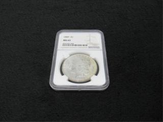 1889-P Morgan Silver $1 Coin-