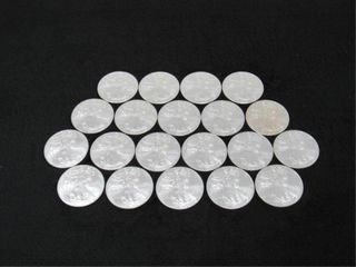(qty - 20) 2009 Silver American Eagle $1 Coins-