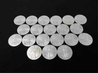 (qty - 20) 2015 Silver American Eagle $1 Coins-