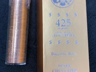 Sealed Ballistic Roll of 50 $1 Presidential Coins-