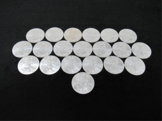 (qty - 20) 2014 Silver American Eagle $1 Coins-