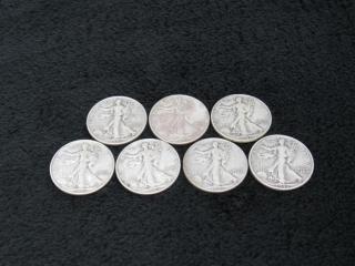 (qty - 7) 1943 Walking Liberty Half Dollars-