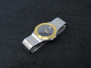 Gold Plated Movado Museum Mens Watch w/Appraisal-