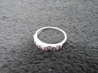 18 Kt White Gold Diamond Band Set w/ Appraisal-