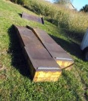 Custom Made 14 Ft Diamond Plate Steel Auto Ramps, Qty 2, 12' X 23', Bidder Responsible For Proper Re...