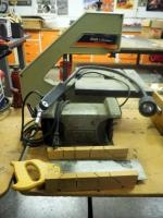 "Black & Decker Table Top Electric Band Saw (Unknown Working Condition), Category # 9411, 6 "" Bench G..."
