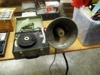 Vintage Wightman Electronics 12 Volt Record Player, Plays 45's, 33's And 16's Includes University Lo...