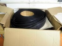 "2 1/4"" Heavy Duty Rubber Weather Stripping, Contents Of Box"