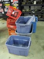 Storage Totes And Milk Crates, Qty 7