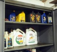 Motor Oil Assortment, Including 5W30, 10W40, 20W And More, Contents Of 3 Shelves,