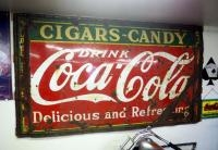 "Antique Heavy Gauge Steel ""Coco-Cola"" Retail Sign, 55"" X 97"", Bidder Responsible For Proper Removal,..."
