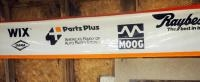 "Sponsorship Banners With PArts Plus, Wix, Fel-Pro And Raybestos, 30"" x 200"", Qty 2"