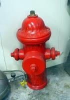 "1967 Kennedy Fire Hydrant Model K11 With Hand Painted Flames, 29"" Tall"