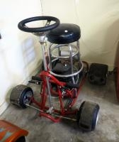 Custom Made Bar Stool Go Cart With A Tecumseh Engine, Ran When Last Parked But Has Sat For Awhile