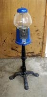 "Coin Operated Carousel Gumball Machine On Metal Stand, 38"" Tall"