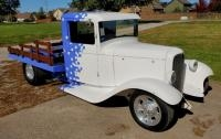 1934 Ford Flatbed Truck, 383 Chevy Engine 700 R4 Transmission,32 Ford Grill Shell, Built By Eric Per...