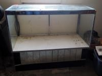 "Metal Frame Glass Display Case, 40"" X 48"" X 24"", Glass Front Missing, Bidder Responsible For Proper..."