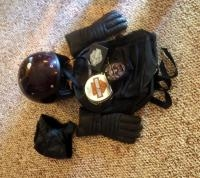 Motorcycle Accessories, Including Sturgis Backpack, Vintage Hondaline Helmet, Gloves And More
