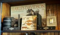 Harley-Davidson Collectibles, Including Hallmark Bookends, Money Clip, Wall Calendar And More, Qty 7