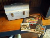Antique Aluminum Lunch Box, Cook's Garage Menu And Coasters