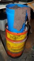"Schaeffer's Specialized Lubricants Metal Barrel, 27"" Tall, Includes Mechanics Shop Rags"