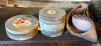 "8"" And 10"" Grinding Wheels, Qty 9 And 280 Grit 4"" x 48"" Sanding Belts"