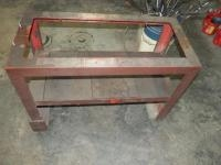 "Heavy Duty Metal Framed Support Table, 27"" x 38"" x 18"""