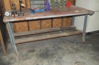 "Shop Table, 34"" x 72"" x 36"", Includes Hardware Bins"